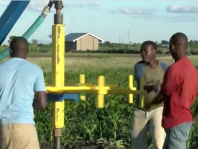 It works! Human-powered drill strikes water in Tanzania