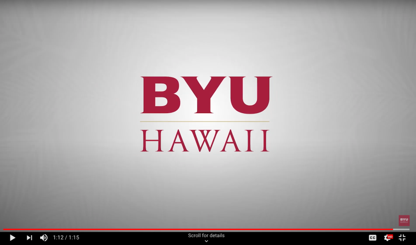 BYUH Monogram ending graphic of a video