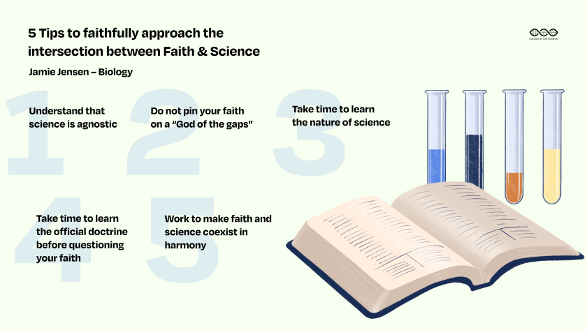 Faith and science infographic
