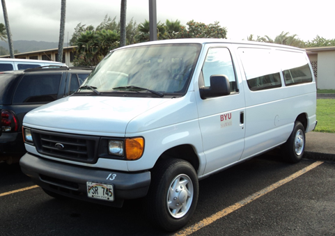 This is a photo of one of the campus vans.