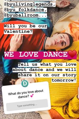 BYU Dance Instagram Story