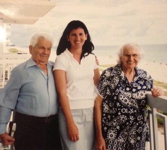 Suzanne standing with Bracha Blattberg Schiff and Arieh Schiff.