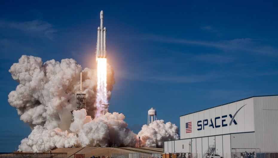 Launch of SpaceX rocket