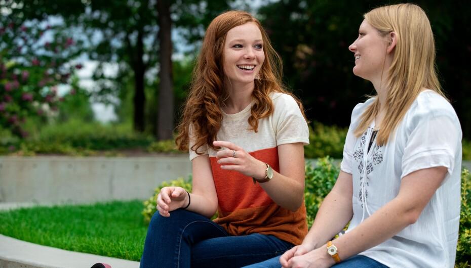 BYU students outside
