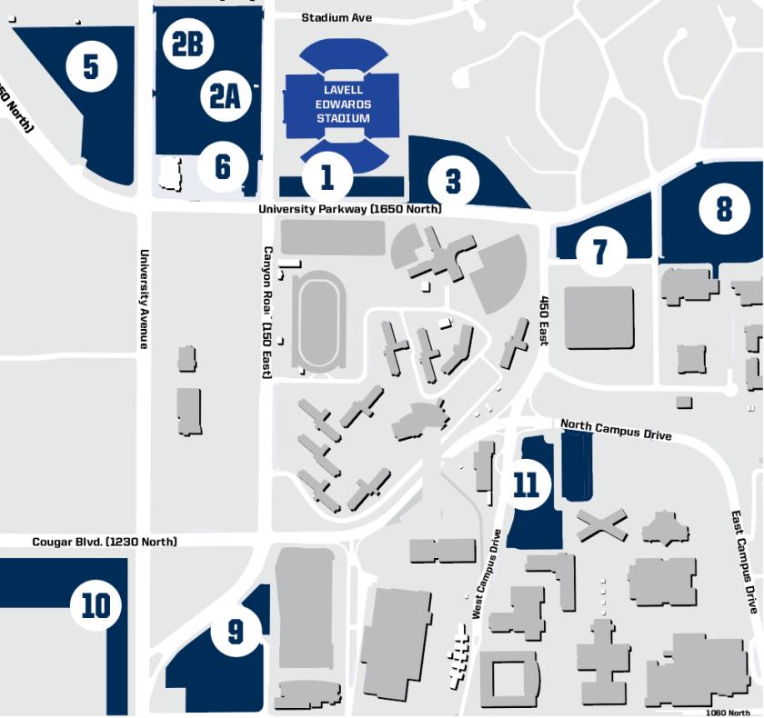 Football Cougar Club Parking Map