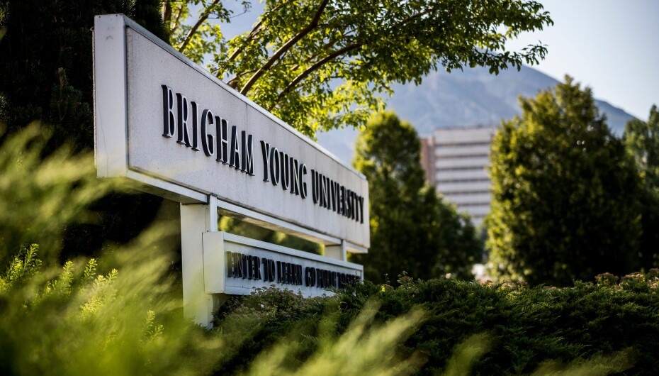 BYU campus entrance sign