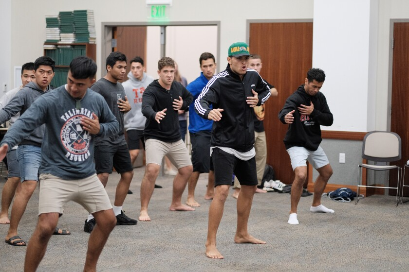 Members of the New Zealand Club practice for Culture Night.