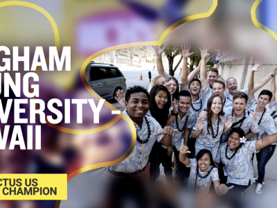 Members of the BYU–Hawaii Enactus Team announced as the 2020 Enactus US National Champions