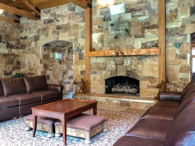 Gas fireplace at Spring Haven.