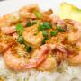 Thai Garlic Shrimp and rice