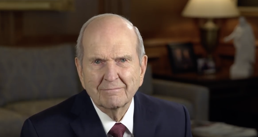 President Nelson in a video message to the world.