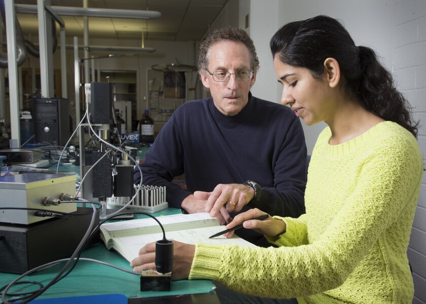 Milton Lee mentors PhD student Sonika Sharma