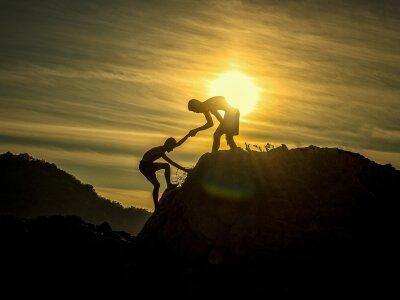 help someone to climb mountain