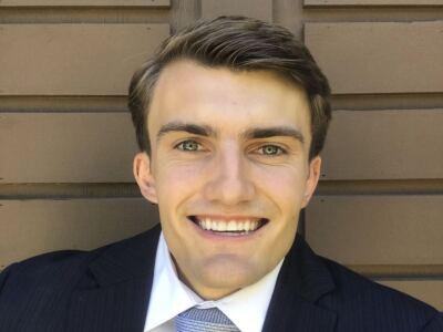 Kaleb Christensen, a student graduating in biology.