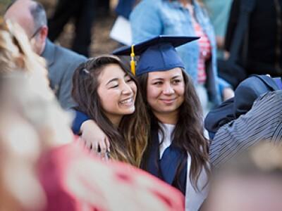 Sisters at BYU graduation
