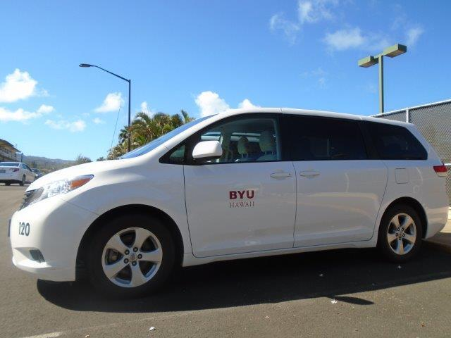 This is a photo of one of the campus mini vans.