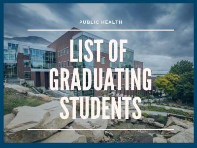 List of Graduating Students