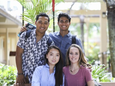 Image of multicultural students smiling