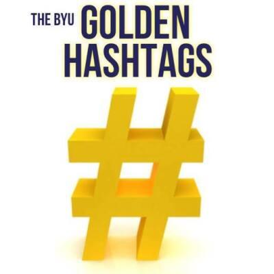 BYU Golden Hashtags Logo