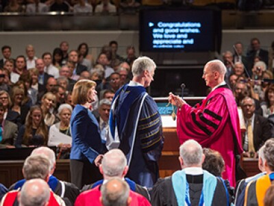 Inauguration of President Worthen: 'Go to the Mountains'