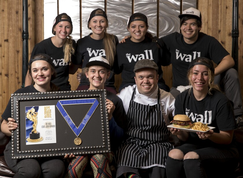 Chef John Newman with The Wall student employees