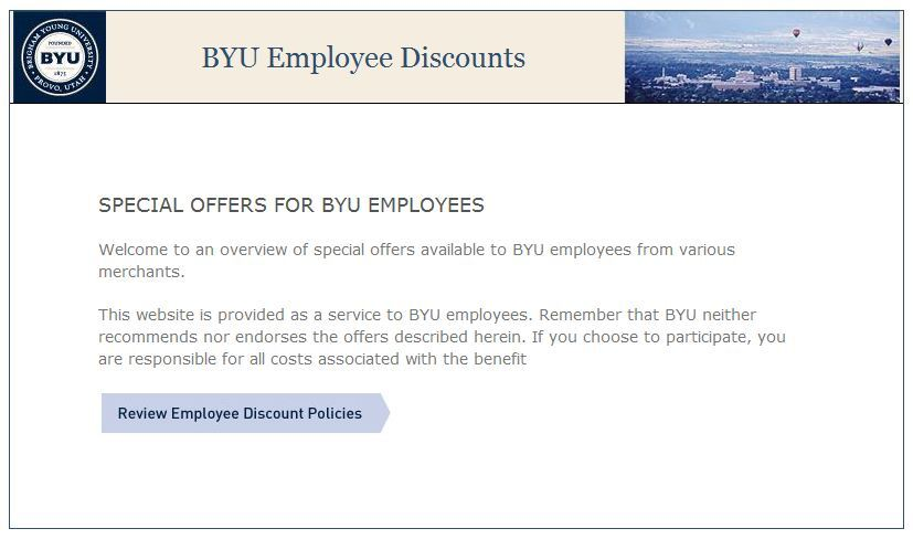 Discounts on products, services available for BYU employees