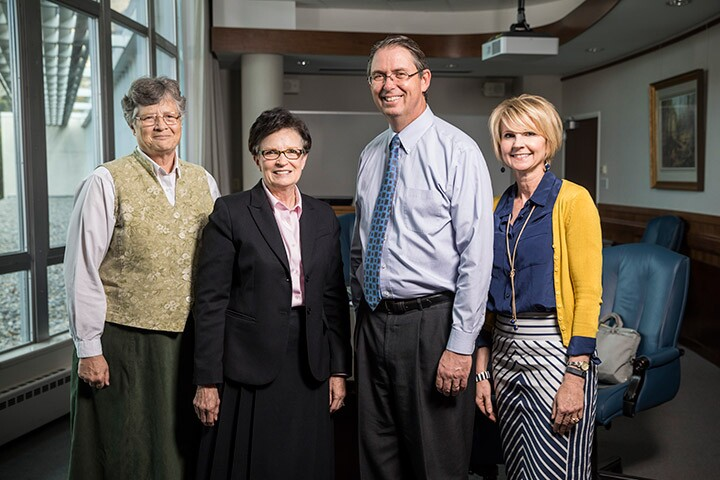 From left: Sandra Rogers, Jan Scharman, Ben Ogles and Julie Valentine
