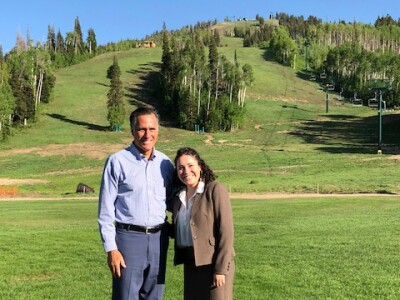 Bethany and Mitt Romney in Park City, Utah.