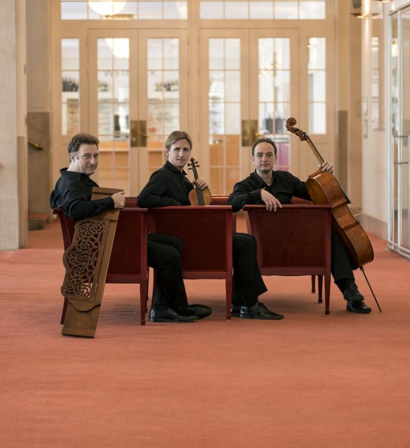 The Trio features David McCarroll; violin, Stefan Mendl, piano; and Matthias Gredler; cello.