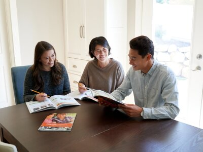 Family Studying Together Image