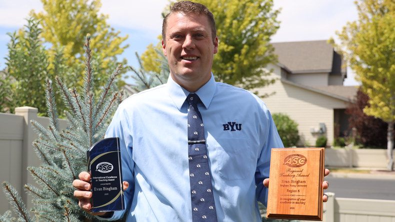 BYU Engineering assistant professor receives international Excellence in Teaching award from Associated Schools of Construction