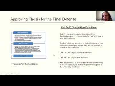 Scheduling and Approving the Final Defense