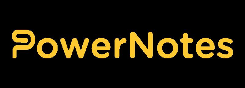 PowerNotes Rectangle Logo