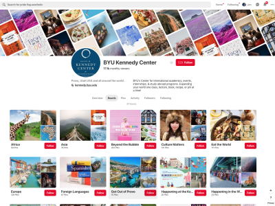 BYU Kennedy Center Pinterest Grid