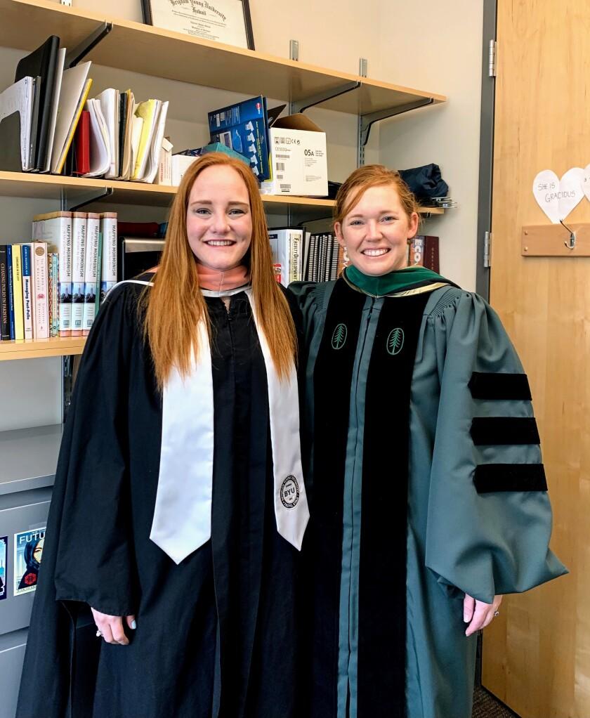 Natalie Bennion and Dr. Chantel Sloan