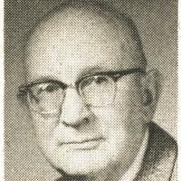 Newspaper photo of Gustive O. Larson