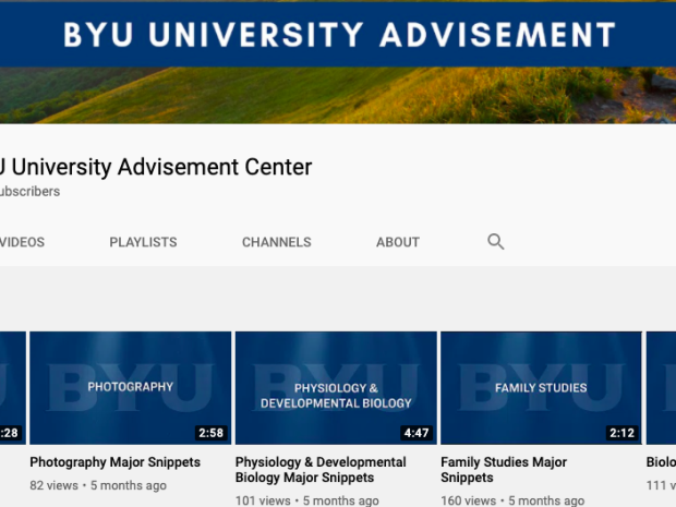 Check Out the BYU Major Snippets YouTube Channel