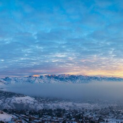 photo of inversion over Salt Lake