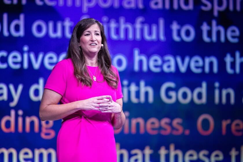 Liz Darger delivers her devotional