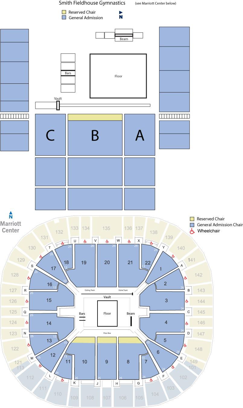 BYU gymnastics seating