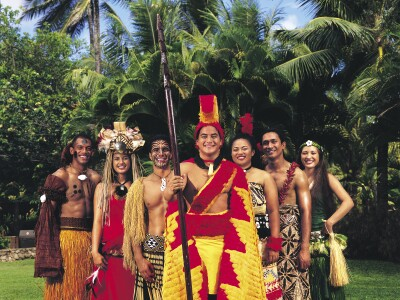 Image of multicultural Polynesian students dressed in their cultures traditional attire