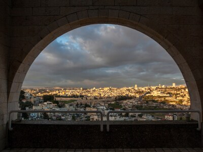 Jerusalem through view of arch