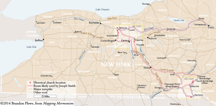 Joseph Smith's Travels in Western New York