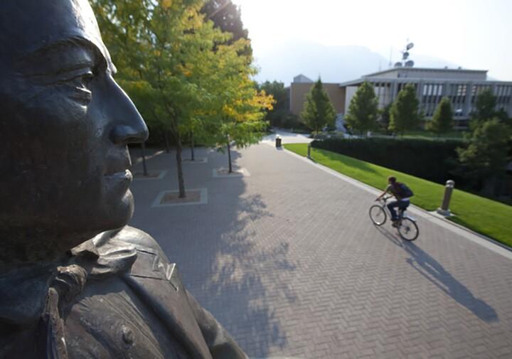 Biking at BYU