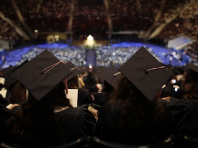 April 2019 Commencement: A wonderful world to share joy, show love, create connections