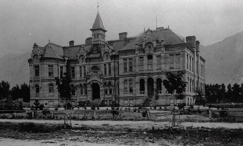 Old photo of Brigham Young Academy