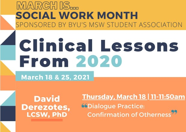 a flyer for the Clinical Lessons from 2020 lecture