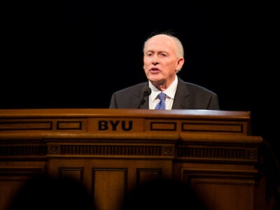 Elder Richard J. Maynes speaks at a BYU Devotional on September 19, 2007