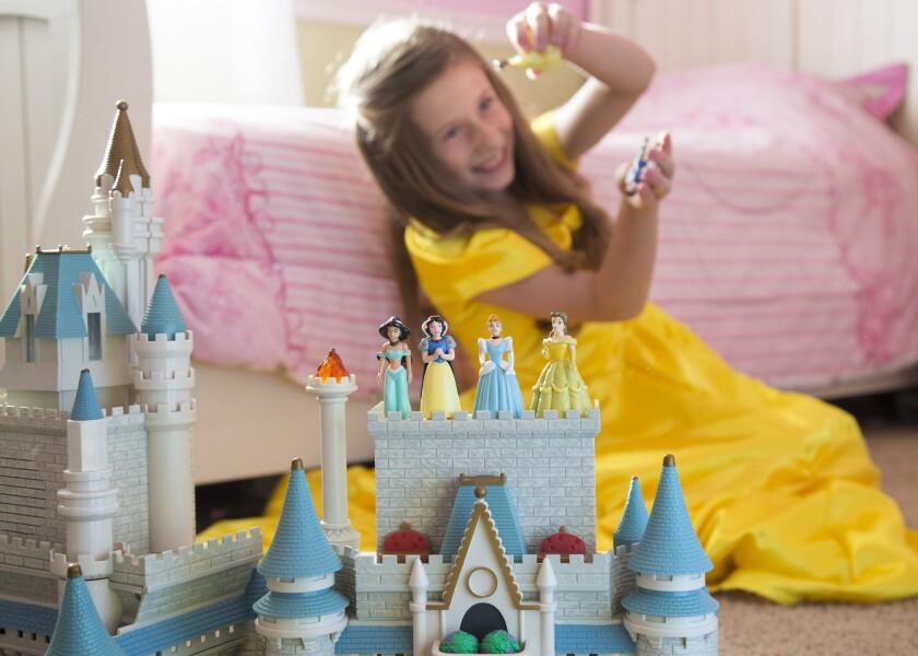 Young Girl Playing Princess