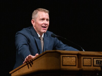 Spencer Fluhman speaks at BYU Devotional
